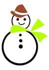 Imagen muñeco de nieve