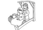 Dibujo para colorear nacimiento de Jesús