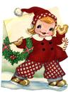 Imagen niña con traje de navidad