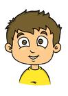 Imagen niño con pelo castaño