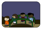 Imagen niños en puente