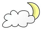Imagen noche nubosa