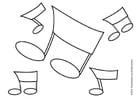 Dibujo para colorear Notas musicales
