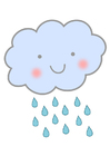 Imagen nube con lluvia