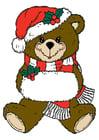 Imagen oso de navidad