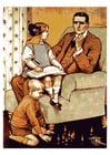 Imagen padre con niños