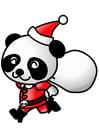 Imagen panda con traje de navidad