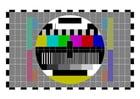 Imagen pantalla de prueba de televisión