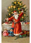 Imagen papá noel en árbol de navidad