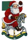 Imagen papá noel sobre caballo balancín