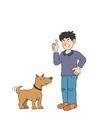 Imagen perro con dueño