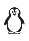 Dibujo para colorear pingüino