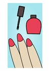 Imagen pintarse las uñas