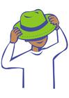 Imagen ponerse un sombrero