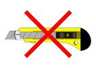 Imagen prohibido acceder con un cúter