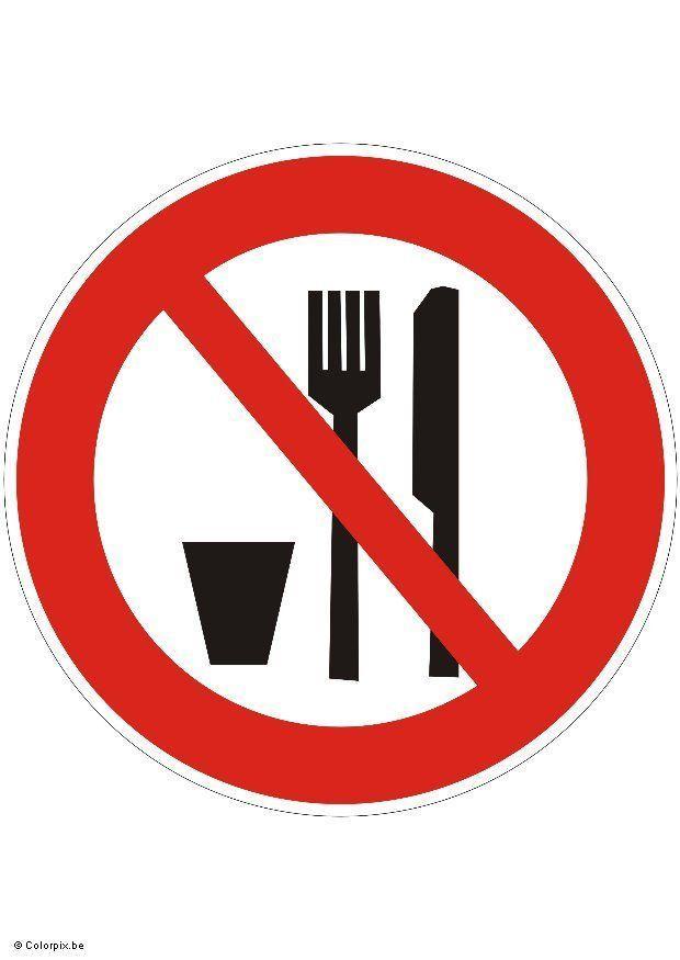 Imagen Prohibido Comer O Beber Img 5422 Images