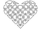 Dibujo para colorear puzle de corazón