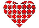 Imagen puzle de corazón