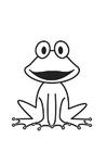 Dibujo para colorear rana