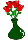 Imagen rosas en jarrón