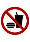 Imagen se prohíbe pasar con comida y bebida