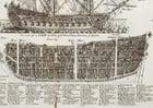 Imagen Sección de barco de guerra de tres mástiles