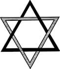 Dibujo para colorear Sello de Salomón - estrella de David