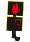 Imagen semáforo para peatones - parar