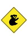 Imagen señal de tráfico - koala