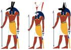 Imagen Set, Horus y Anubis