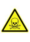 Imagen símbolo de peligro - sustancias peligrosas