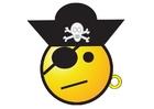Imagen smiley de pirata