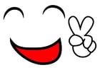 Imagen sonrisa de la paz