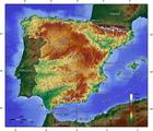 Imagen topografía de España