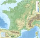 Imagen topografía de Francia