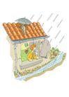 Imagen tormenta y lluvia