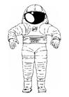 Dibujo para colorear traje de astronauta