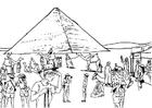 Dibujo para colorear Turismo en Egipto