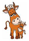 Imagen vaca y ternero