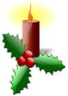 Imagen Vela de Navidad con acebo