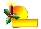 Imagen vela de Navidad