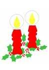 Imagen velas de navidad