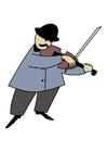 Imagen violinista