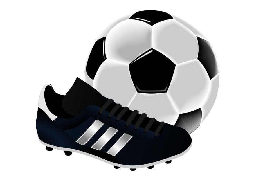 Fondos De Pantalla Fútbol Pelota Silueta Deporte: Imagen Zapatilla De Fútbol Y Pelota