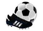 Imagen zapatilla de fútbol y pelota