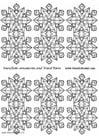 Manualidades Adornos pequeños de copos de nieve