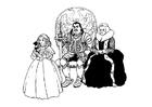 Dibujo para colorear Caballero con familia