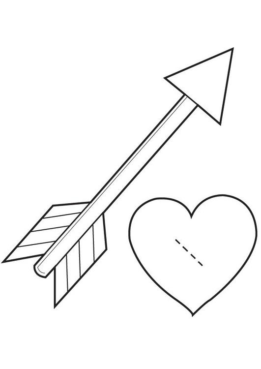 Image Of Dibujos Para Colorear De Corazones Con Flechas Dibujo de ...