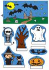 Manualidades diorama de Halloween