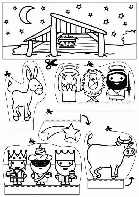Manualidades diorama de Navidad. Manualidades y bricolaje para niños ...
